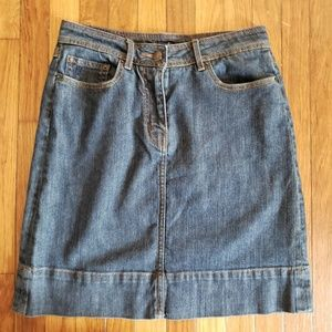 Boden Dark Jean Skirt Above Knee Length Size 10R